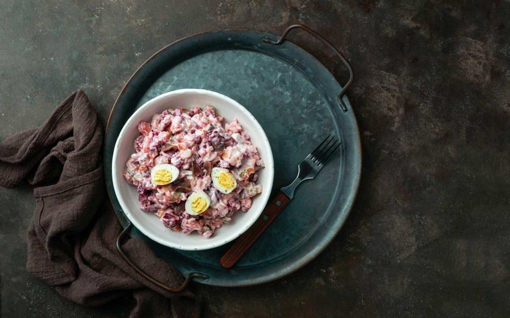 Estonian Food: Mixed Beetroot Salad – Rosolje