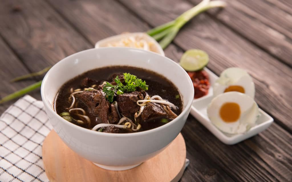 Indonesian Food: Rawon (Black Beef Soup)
