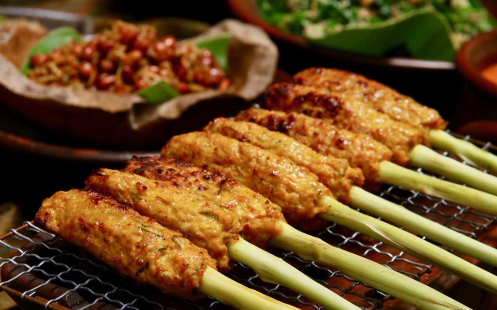 Indonesian Food: Sate Lilit (Grilled Minced Pork or Fish Satay)