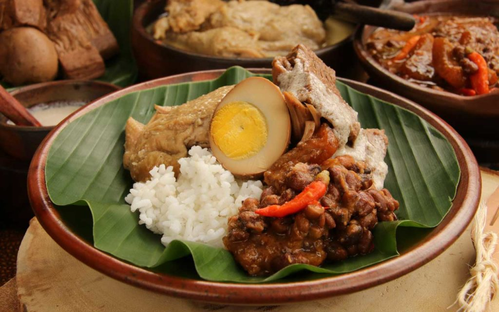 Indonesian Food: Gudeg (Green Jack Fruit Stew)