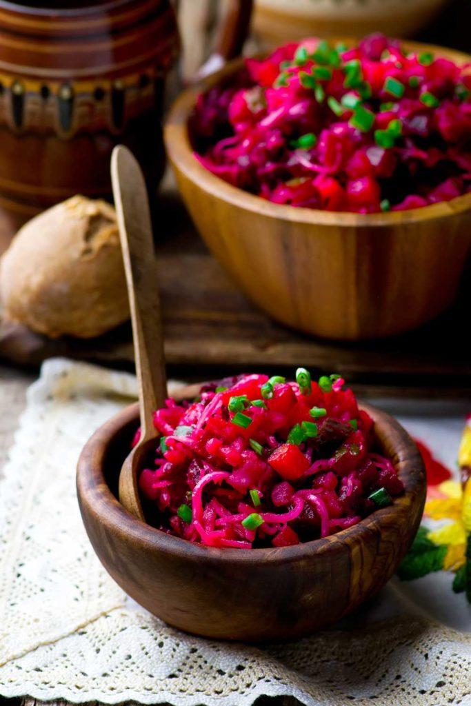 Russian Food: Russian Vinaigrette (Русский Винегрет) – Vinaigrette Salad