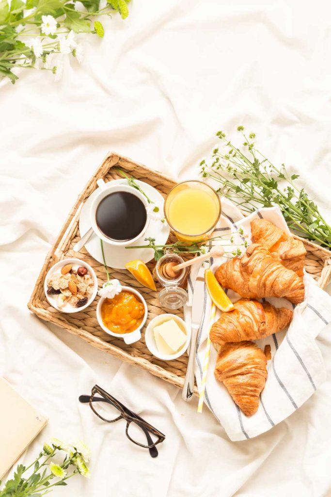 Staycation idea: breakfast in bed
