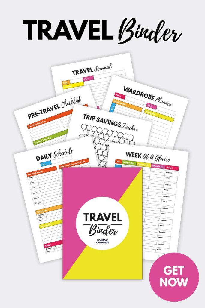Travel Binder Printables