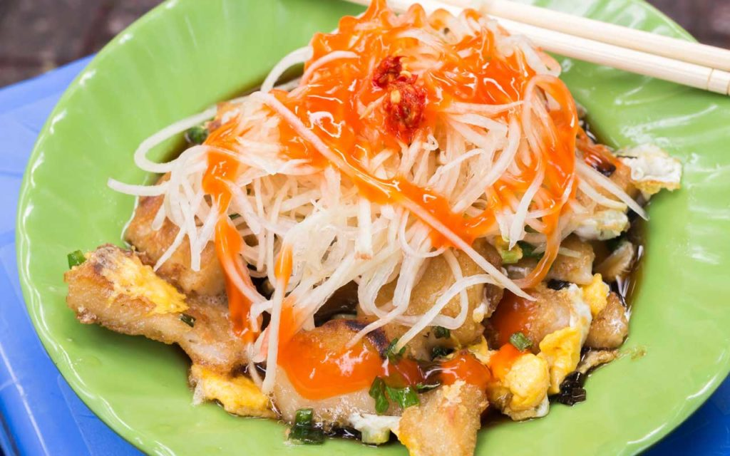 Vietnamese Food: Bột Chiên – Fried Rice Flour Cake with Eggs