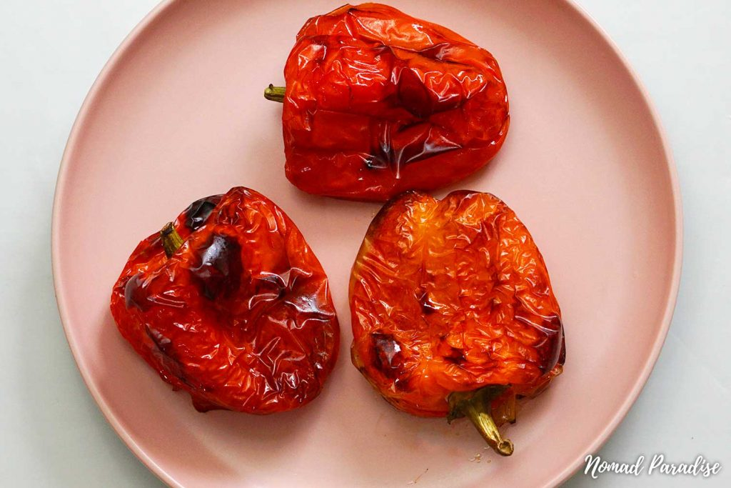 oven-roasted capsicum peppers