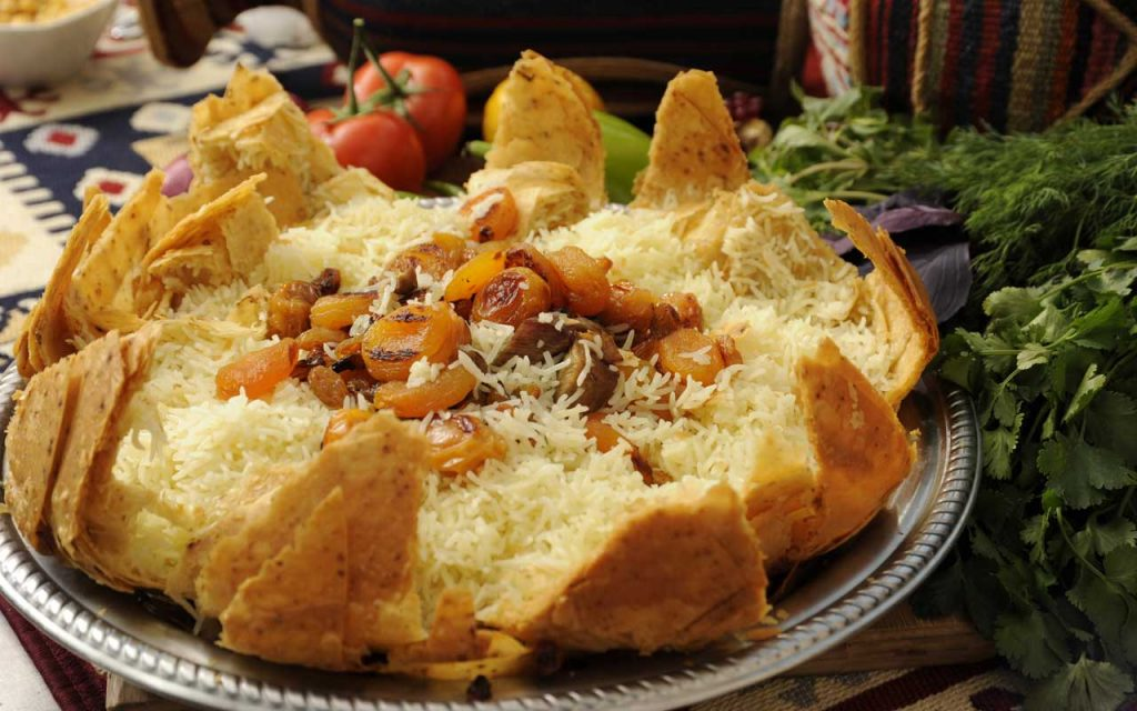 Azerbaijani Food: Shah Plov – Traditional Rice with Fried Dough