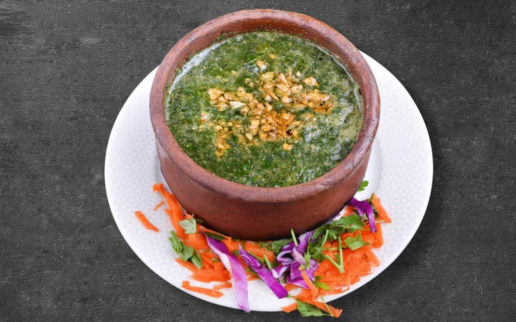 Egyptian Food: Molokheya (Jute Soup)