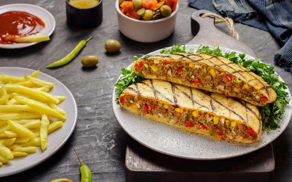 Egyptian Food: Hawawshi (Meat Sandwich)