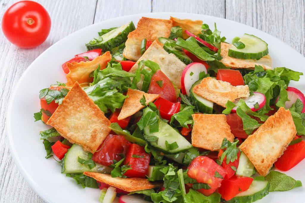 Lebanese Food: Fattoush – Pita Salad