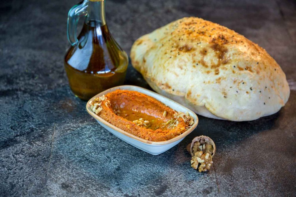Lebanese Food: Muhammara – Roasted Red Pepper Dip
