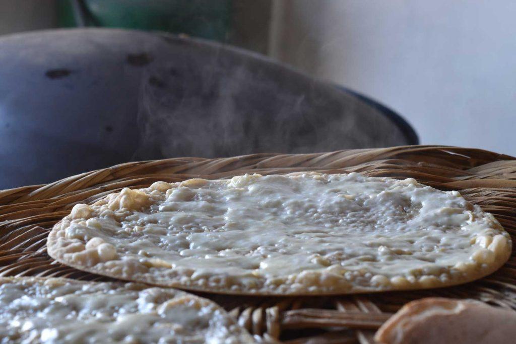 Lebanese Food: Manakish with Cheese