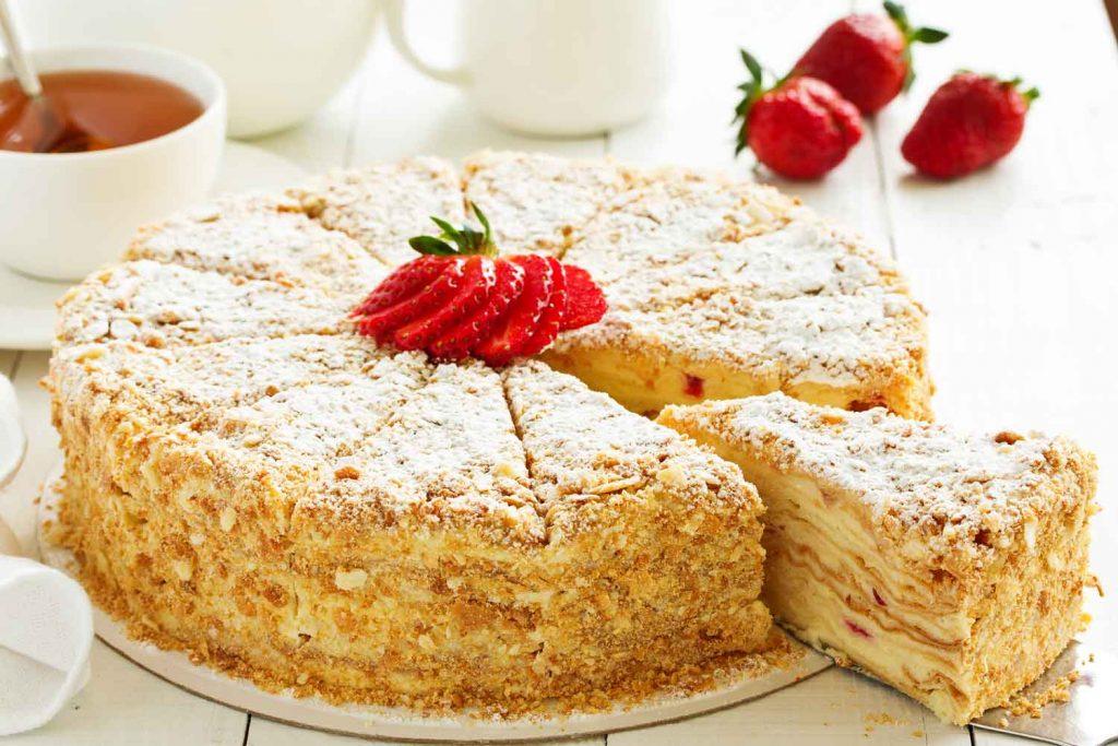 """Lithuanian dessert: Pyragas """"Napoleonas"""" (Cake """"Napoleon"""")"""