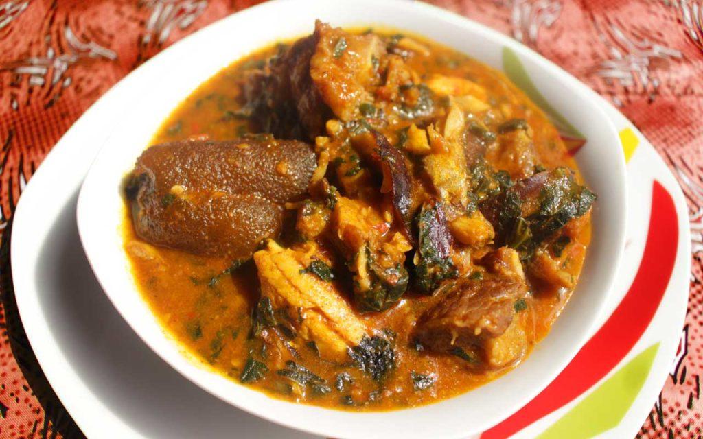 Nigerian food: Ogbono Soup (African Mango Seed Soup)