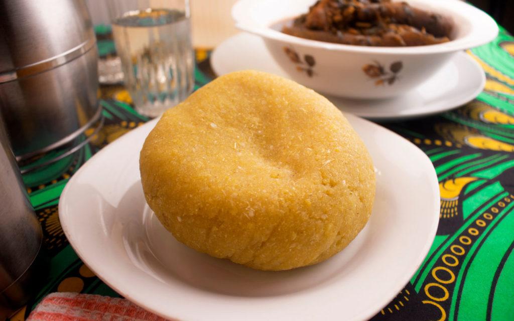 Nigerian food: Ẹ̀bà (Cassava Meal)