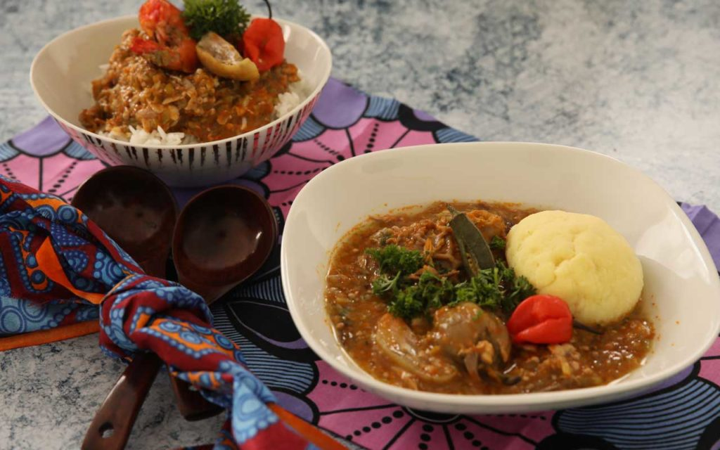 Nigerian food: Obe Ila Alasepo (Mixed Okra Soup)
