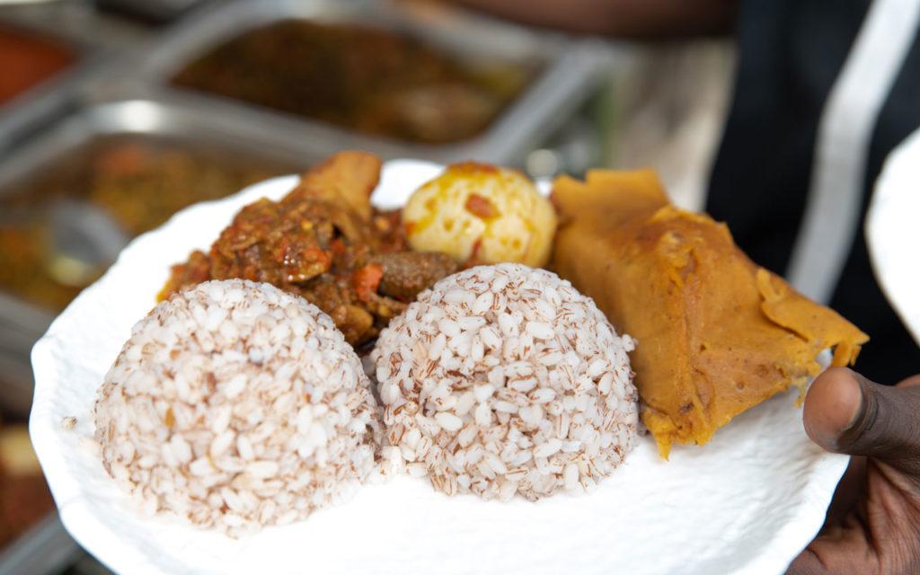 Nigerian food: Moin Moin/Okpo Oka (Bean/Corn Pudding)
