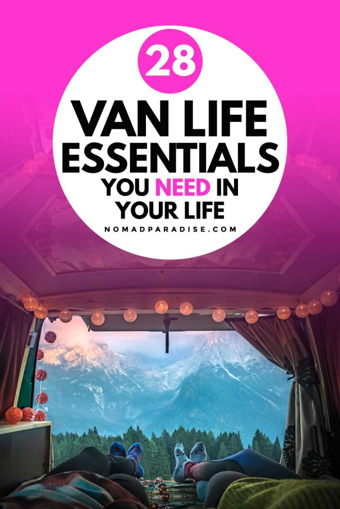 28 van life essentials you need in your life