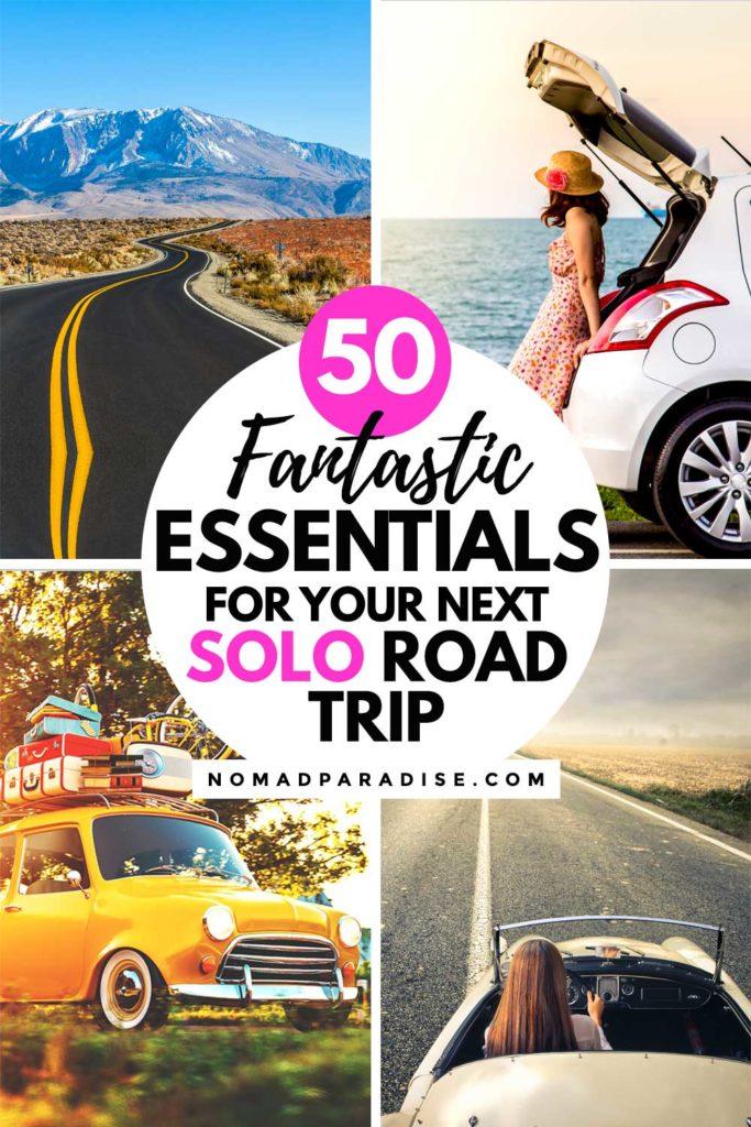 solo road trip essentials and checklist