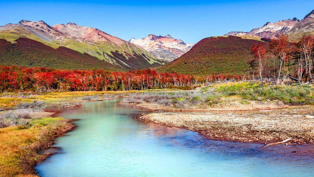 Tierra del Fuego, Argentina landscape scene
