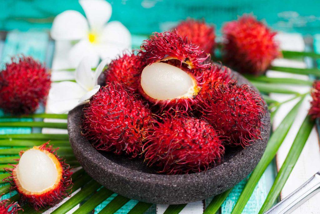 Asian fruit: Rambutan