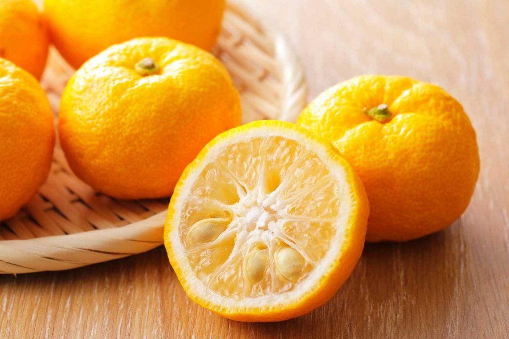 Asian fruit: Yuzu