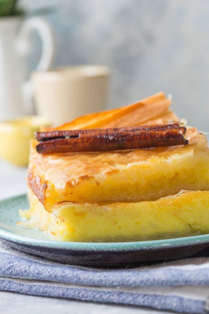Greek Desserts: Galaktoboureko (Semolina Custard Pie) – Γαλακτομπούρεκο