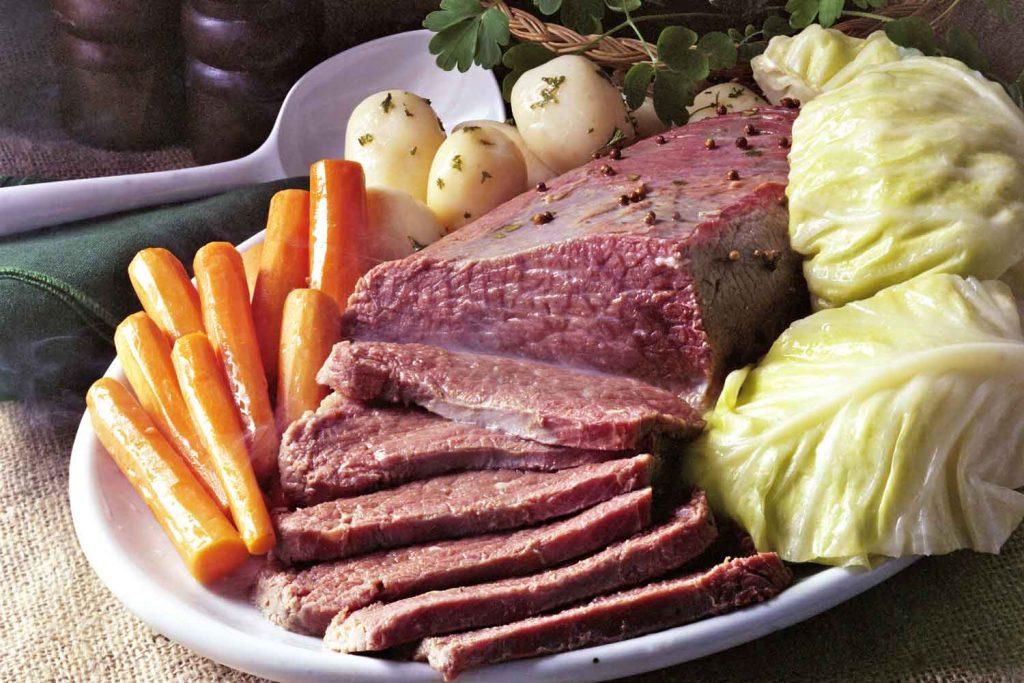 Irish food: Corned Beef and Cabbage