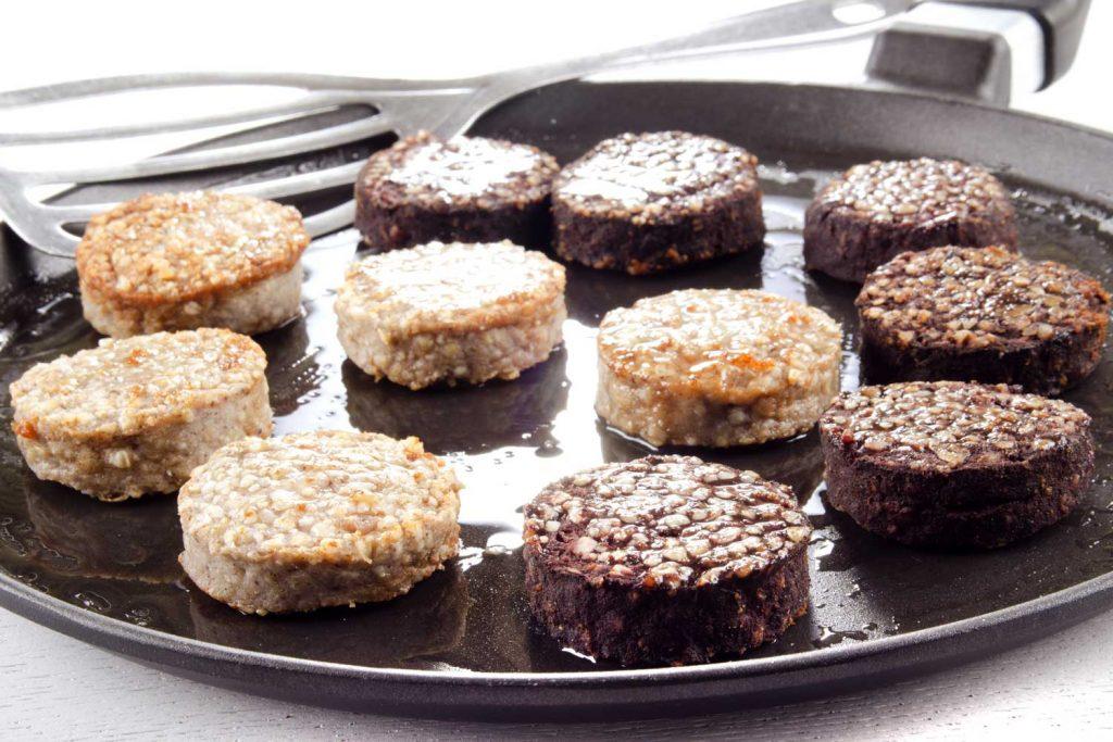 Irish food: Black and White Pudding
