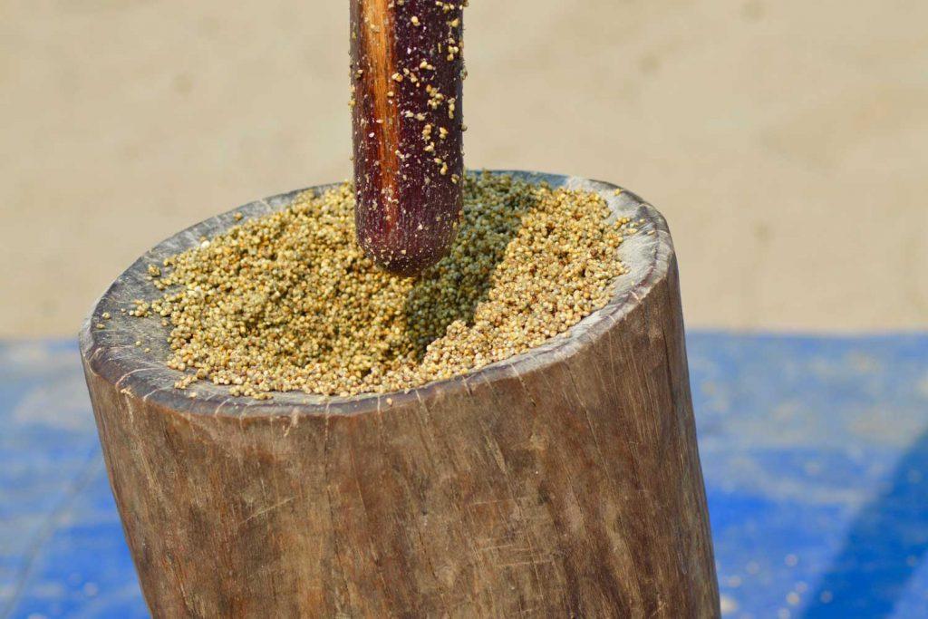Namibian Food: Oshikwiila (Millet/Mahangu Pancake)