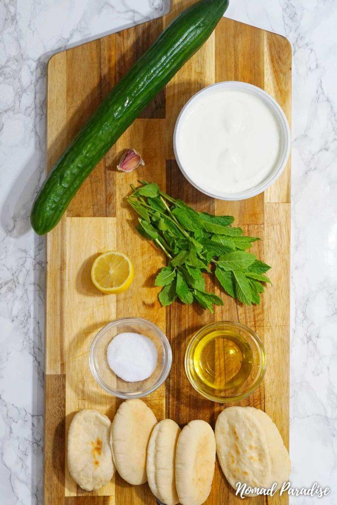 Greek Cypriot Talatouri Tzatziki Spread Ingredients