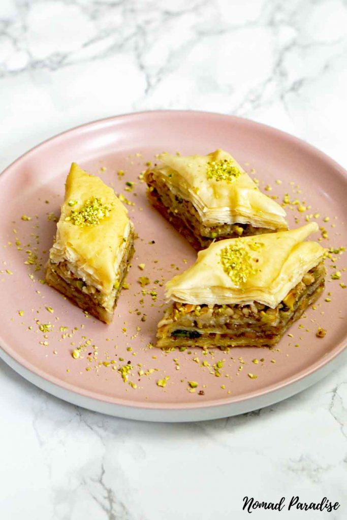Baklava on a plate