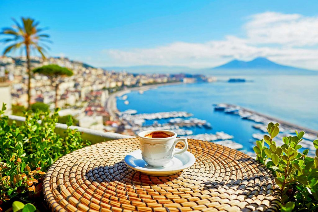 Coffee with a view of Italy