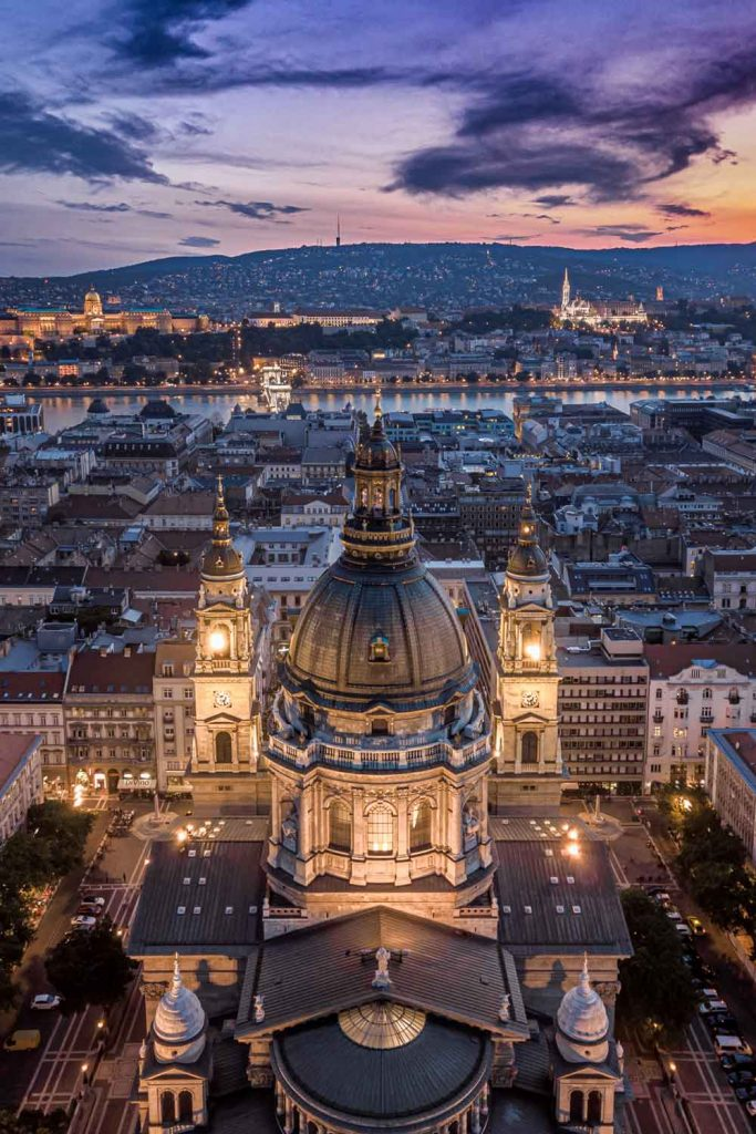 Hungarian City: Budapest aerial view