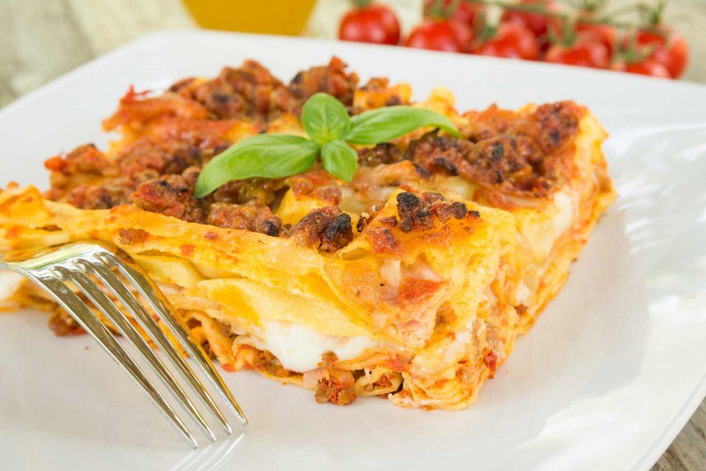 Italian food: Lasagna alla Bolognese