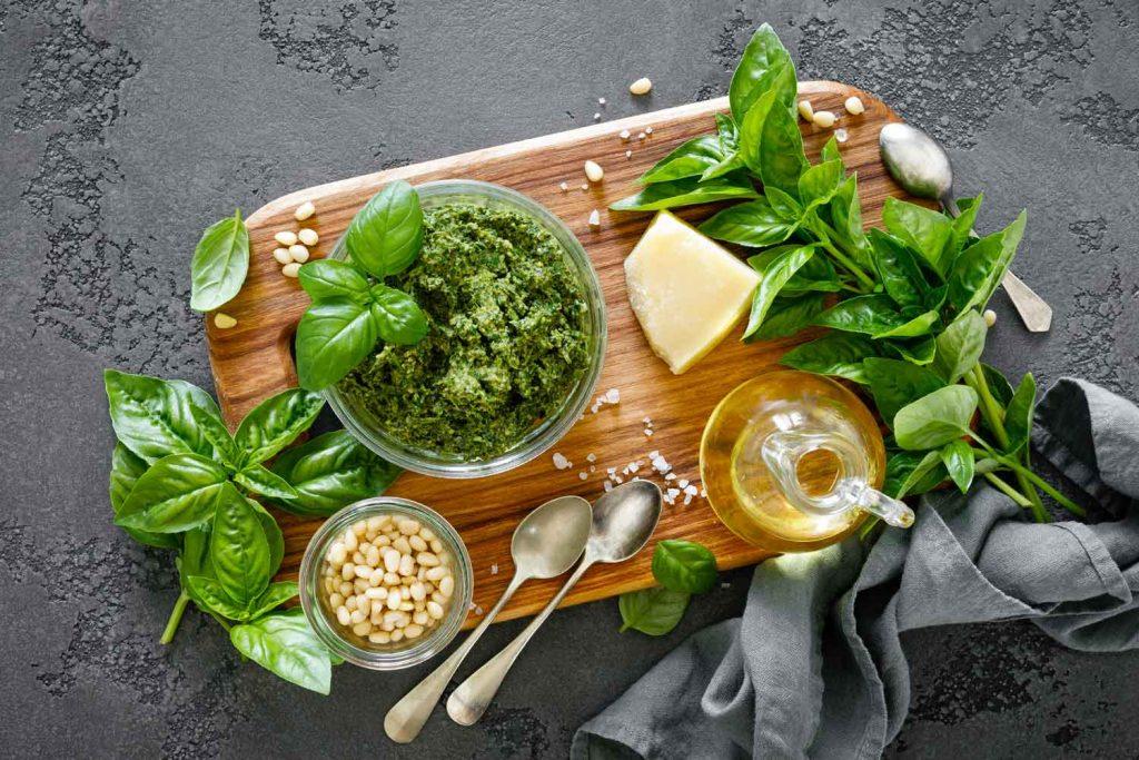 Italian food: Pesto Genovese