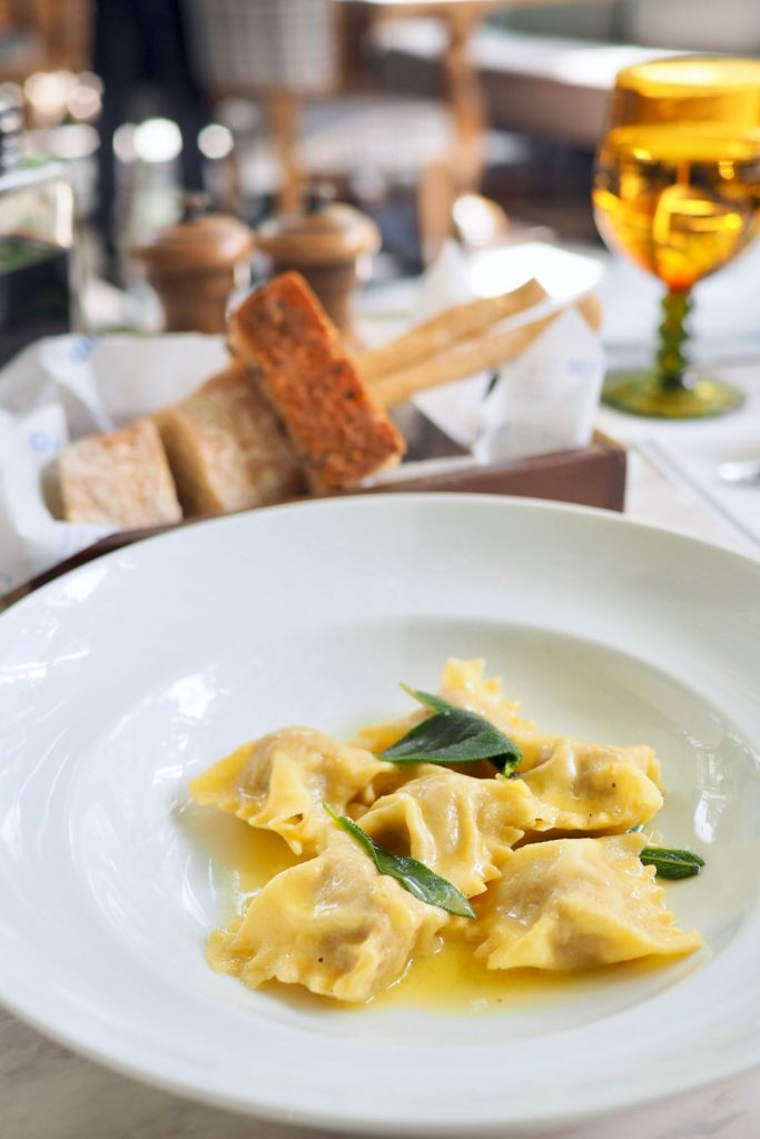 Italian food: Agnolotti Piemontesi