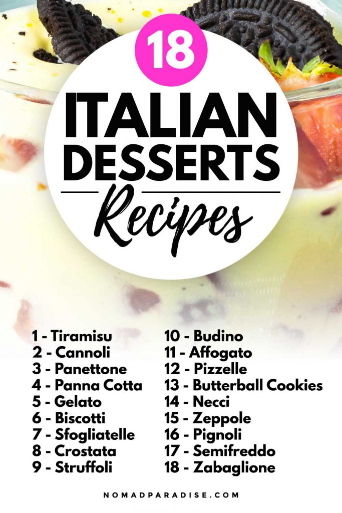 18 Italian Desserts Recipes