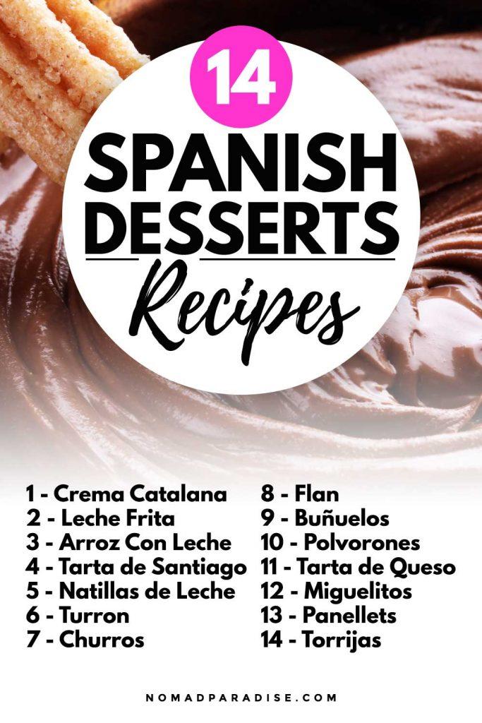 14 Spanish Desserts Recipes