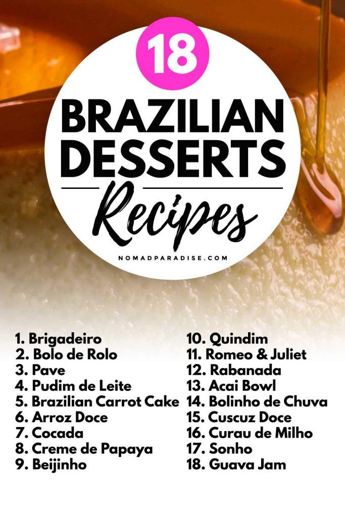 18 Brazilian Desserts Recipes