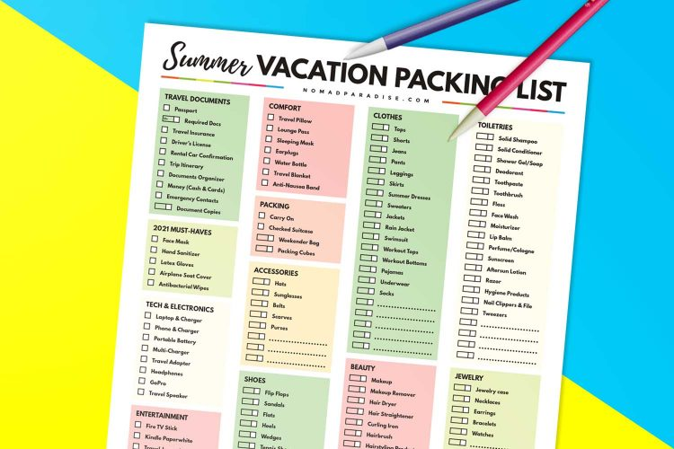 The Ultimate Summer Vacation Packing List: 50+ Essentials You Need