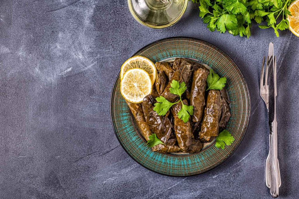 Greek food: Dolmadakia