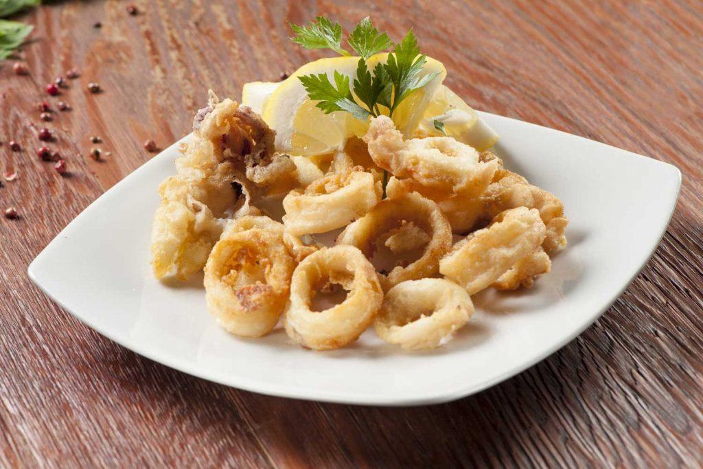 Greek food: Fried Squid