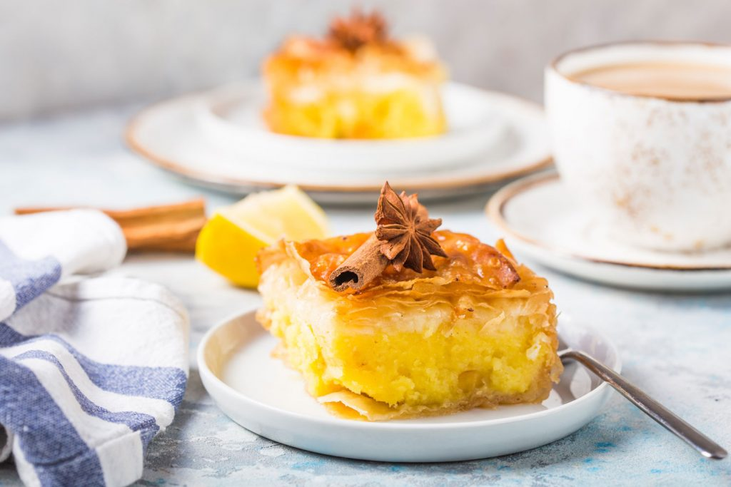 Greek dessert: Galaktoboureko
