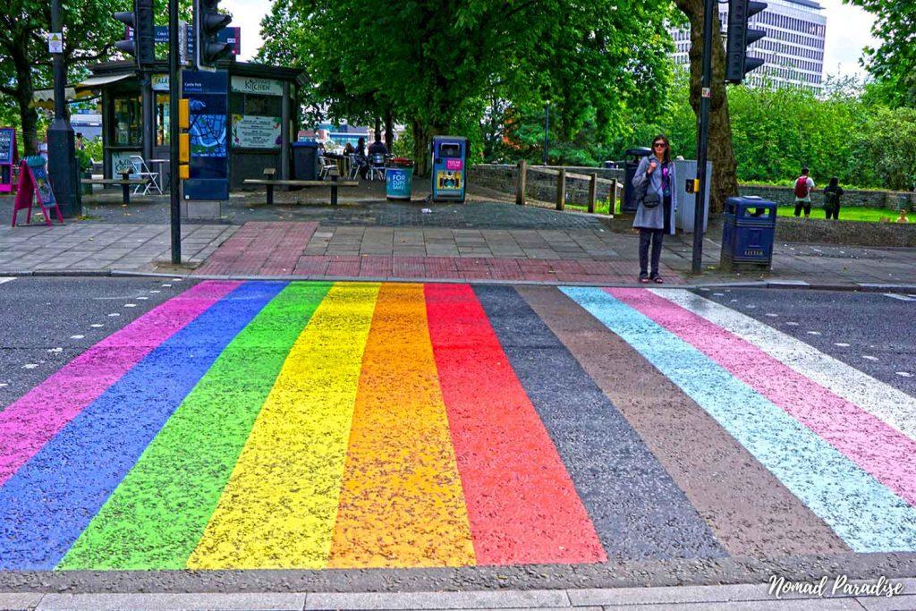 rainbow crosswalk bristol