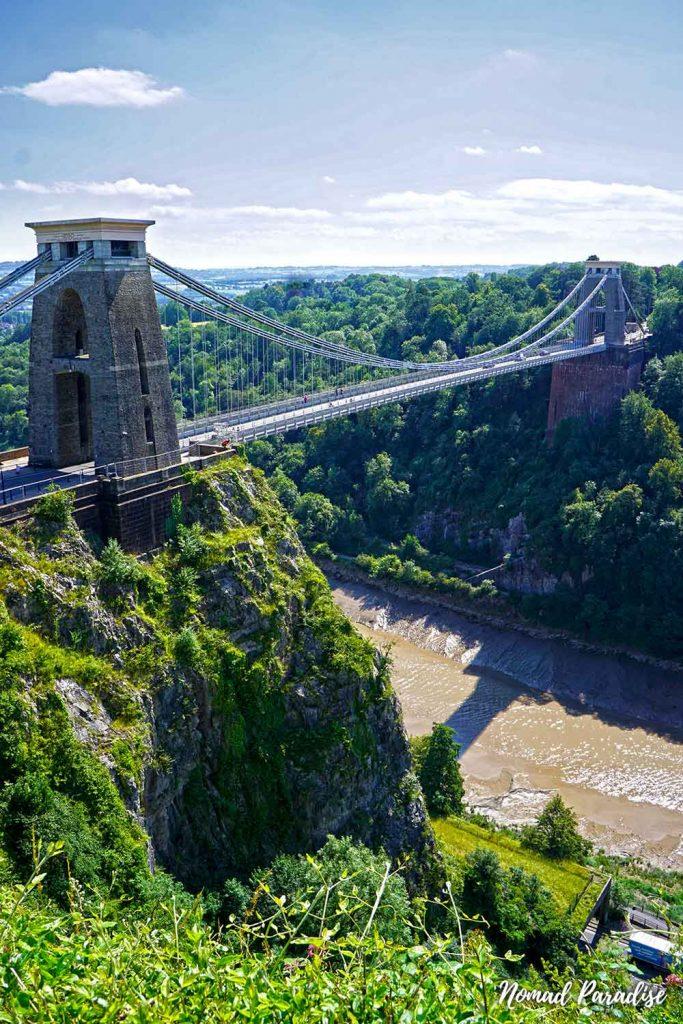 view of clifton suspension bridge bristol