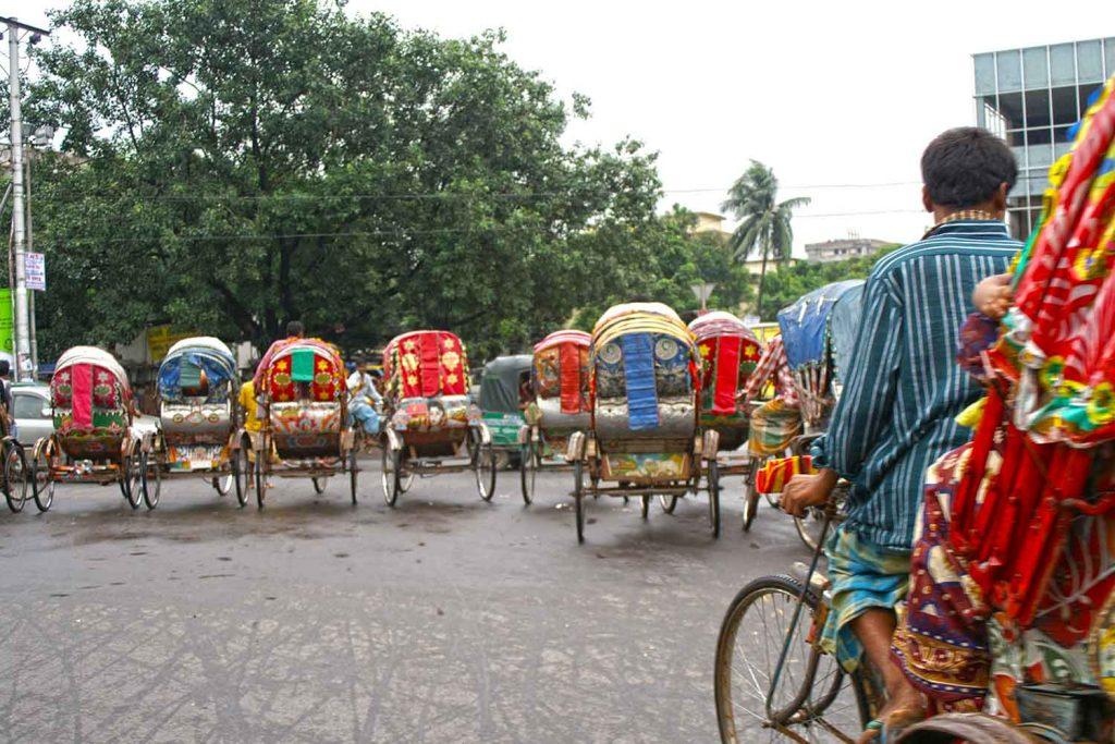 Traditional rickshaws