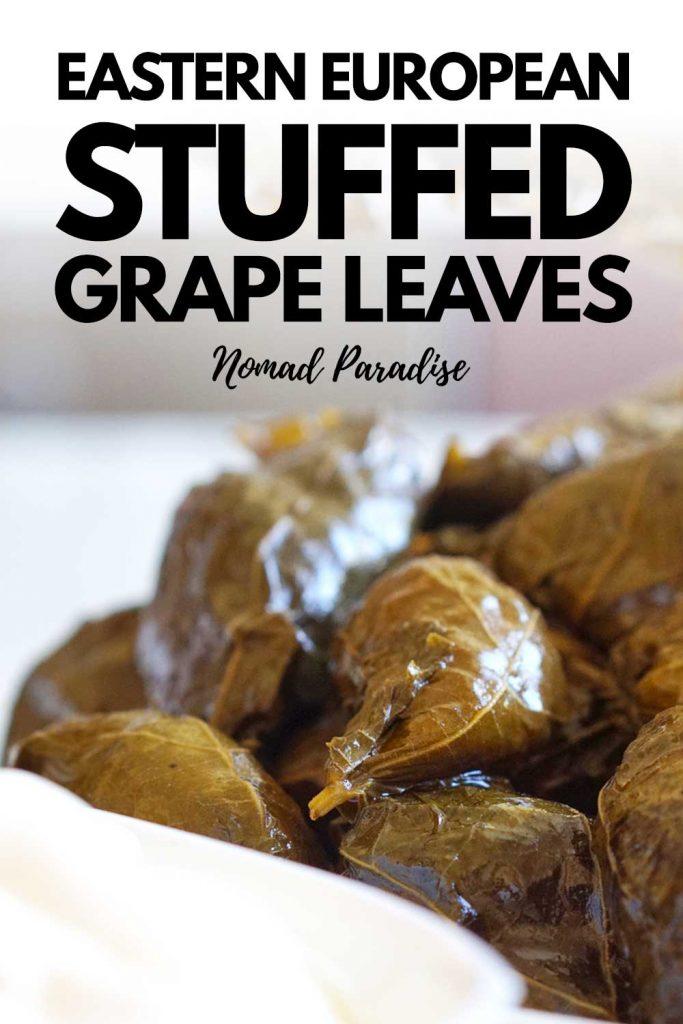 Eastern European Stuffed Grape Leaves