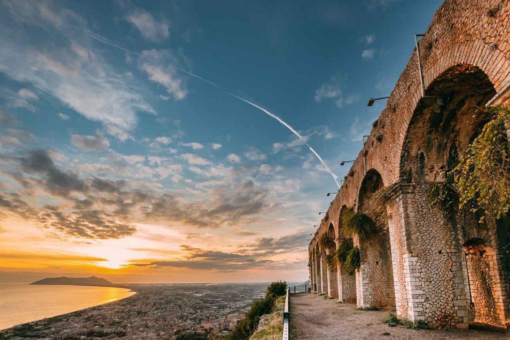 Temple Of Jupiter Anxur Ruins Terracina