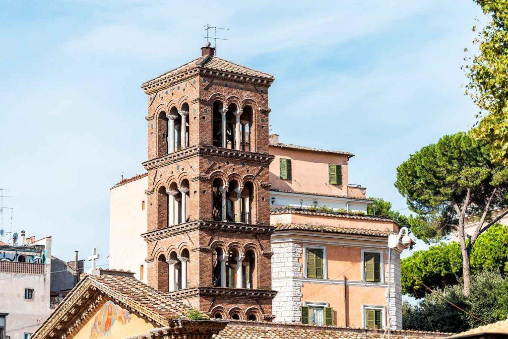Basilica di Santa Pudenziana Church Tower monti