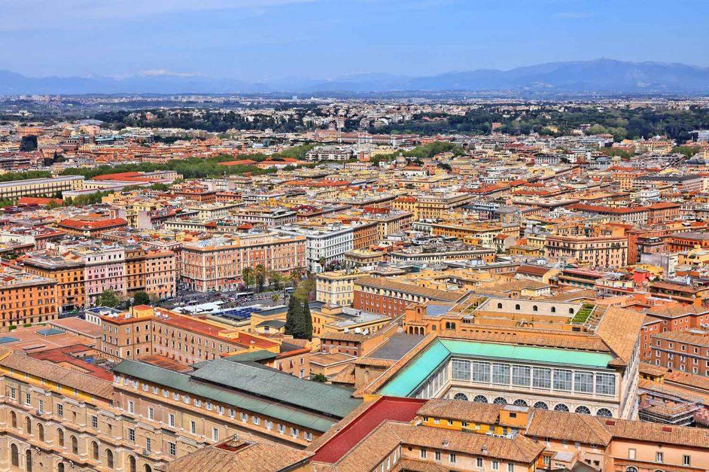 Aerial view of Prati Rome